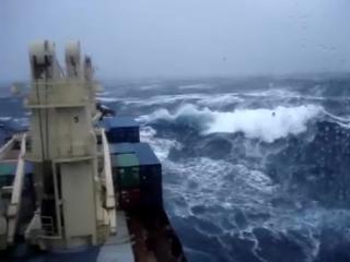 Атлантический океан.Шторм 9 баллов.