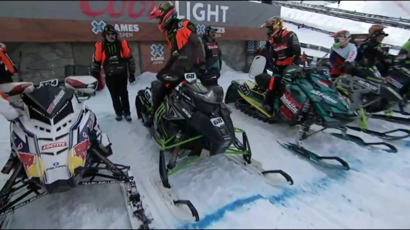 Snow Mobile Snowcross Round 1 And Final X Games Aspen 2017