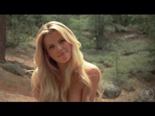 Stephanie Branton hot blonde striptease outdoors