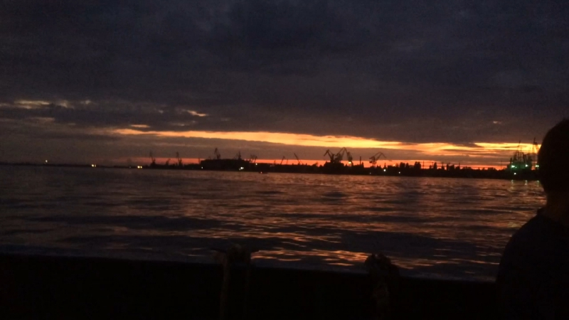 Sunset in kherson
