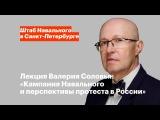 Лекция Валерия Соловья Кампания Навального и перспективы протеста в России