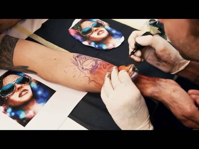 Tutorial - Tatuaje realista a color - Rostro de Mujer - Ojo realista.