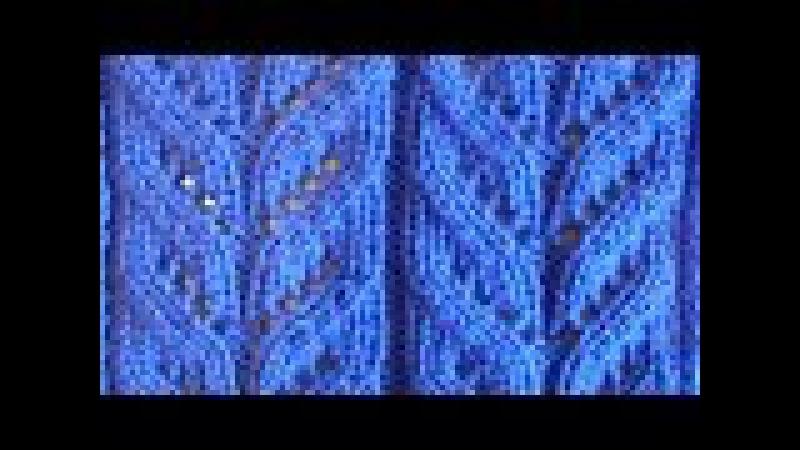 Ажурная коса Вязание спицами Видеоуроки