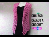 CHALECO CALADO A CROCHET.