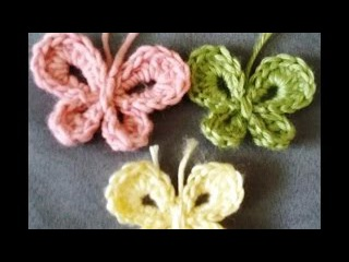 Papillon au crochet كروشيه فراشه سهله