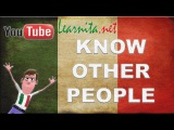 Learn italian language - Know other people - Lesson 2- italian videos