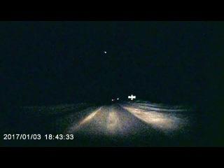 Метеорит в небе над Архангельском