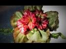 ЦВЕТЫ ПРИМУЛ КАНЗАШИ к ПАСХЕ, мастер класс из лент / DIY Ribbon flower