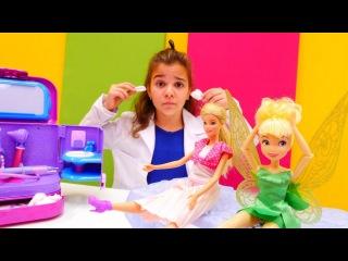 #Barbie ve #Tinkerbell oyuncak bebekler. Doktor Sema hastaları duymuyor. İmdat – #doktoroyunu