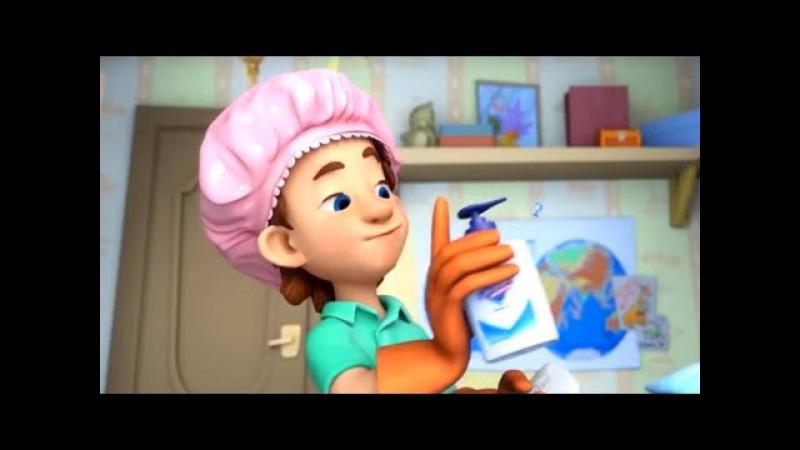 Фиксики новые серии - Тренажер, Сито, Микробы (Сборник мультиков для детей)