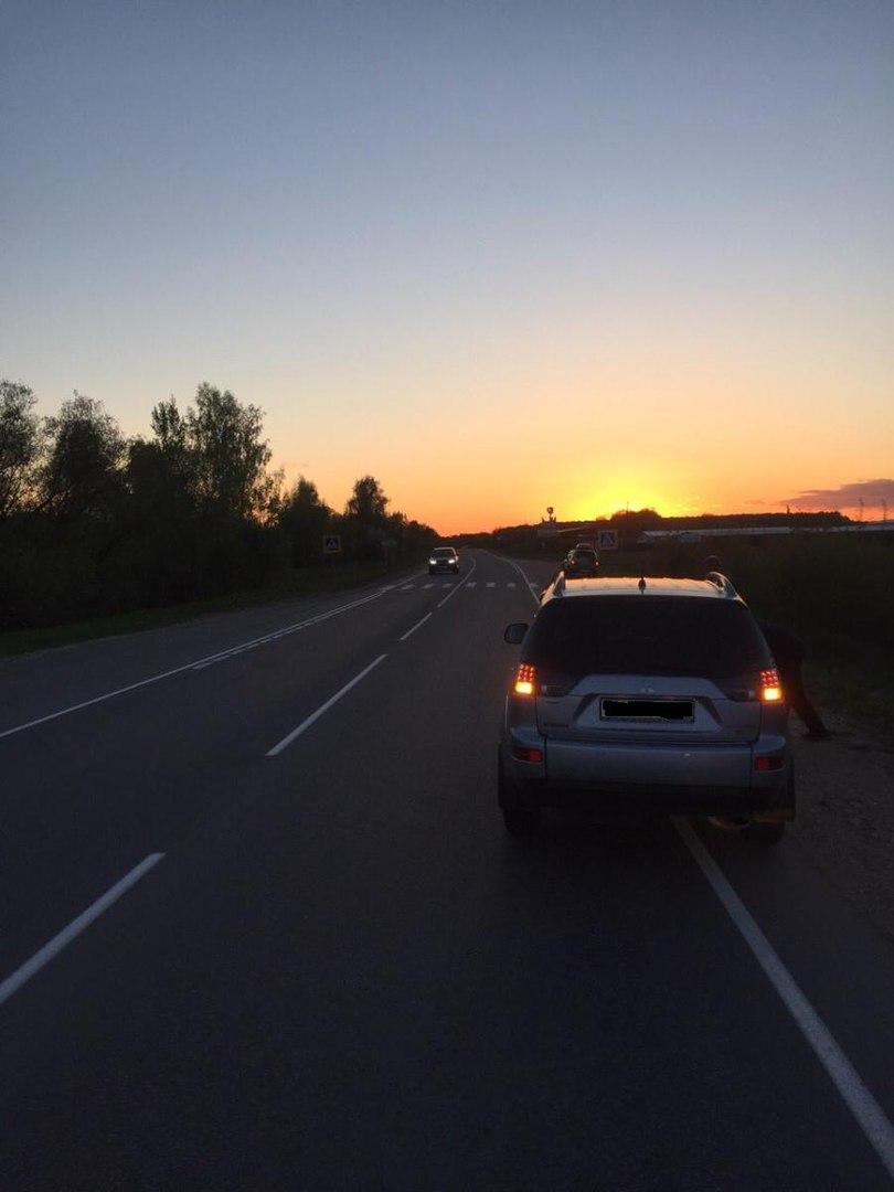 При движении в темное время суток