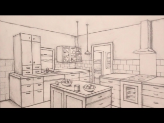How to Draw a Room in Two-Point. Дизайн Кухни Здесь! #дизайнЗдесь #дизайн #современныйдизайн #дизайкухни