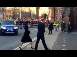 Уильяма и Кэтрин на мемориальной службе в Честере, 28.11.2016