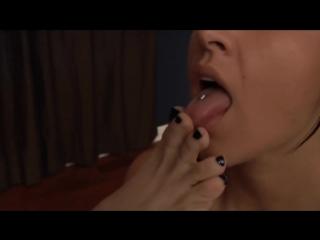 Lesbian girls licking feet