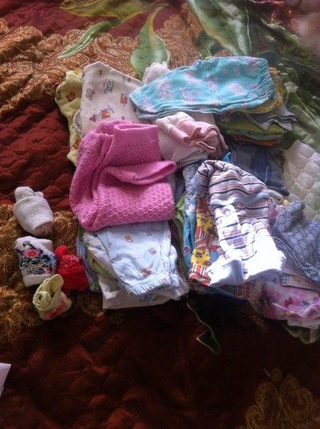Отдам зайца и пакет детских вещей для новорожденных. Забирать на бульв