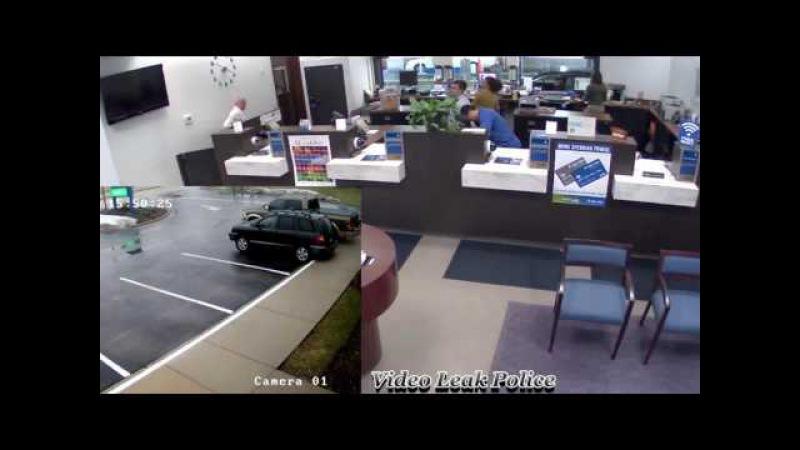 Охранник пристрелил грабителя. Неудачное ограбление банка