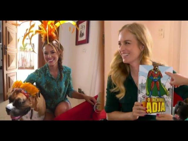 Paola Oliveira abre as portas de sua casa para Angelica e seu cachorro rouba a cena - Estrelas