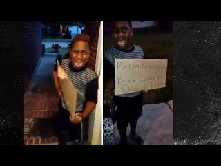 Black Mom Kicks 8 Year Old Son Out Of Home Because He Voted For Trump At School.Sick/Sad Video