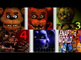 Five Nights at Freddy's ALL TRAILERS  FNAF 1, 2, 3, 4, 5 &amp 6 Trailer