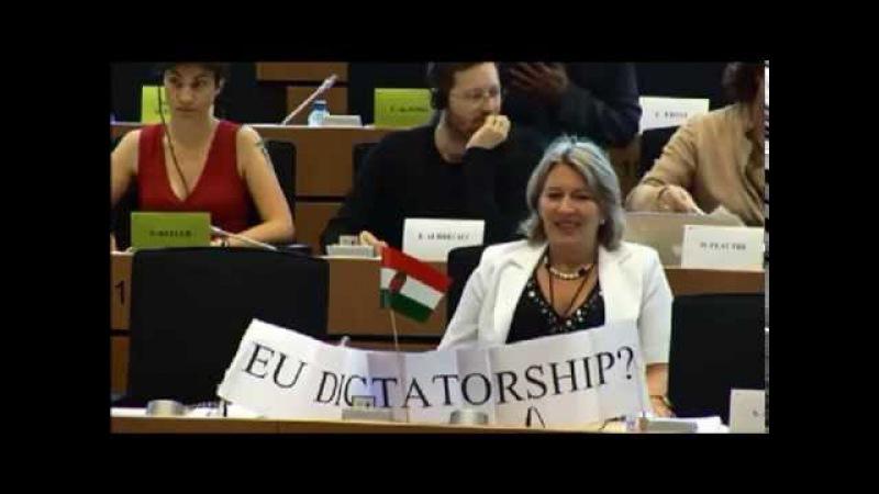 Morvai Krisztina LIBE hozzászólása (kiabálással)