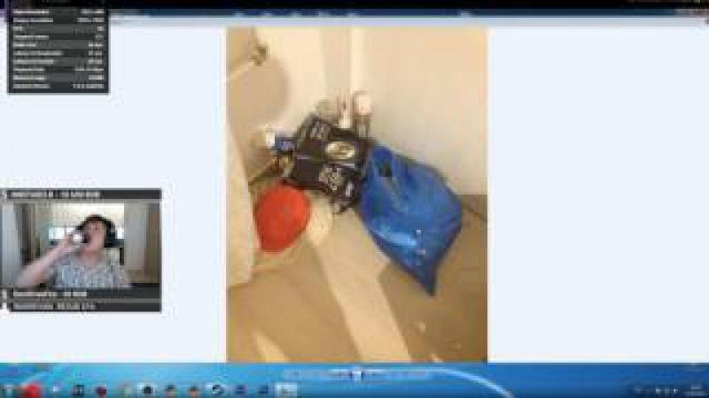 Как Fenya обокрали его квартиру(слабое качество видео)