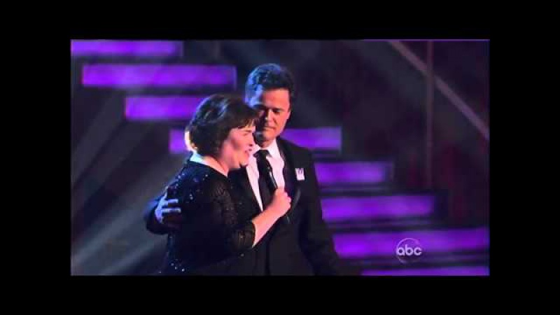 Susan Boyle Donny Osmond (DuetSerenade) ~ This Is The Moment ~ Dancing With The Stars