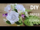 [FREE template]: How to make paper gardenia and paper foliage from printer paper,