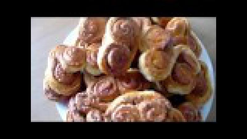 Печенье Ушки Рецепты из слоеного теста смотреть онлайн без регистрации