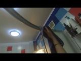 Двусторонний скрабер моем ванную без моющих средств- ВОДА И СКРАБЕР