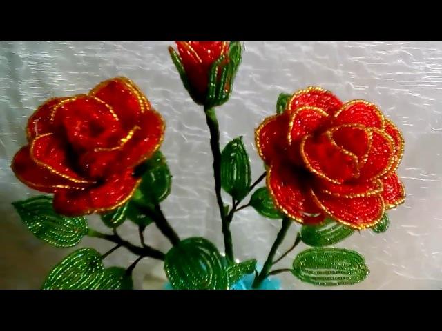 М. К. Как сделать розу из бисера? Легко