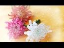 DIY - Craft tutorial - How to Chrysanthemum by crepe paper - Làm hoa cúc đại đóa giấy nhún