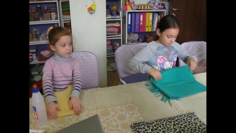 Учимся красиво складывать шарфики