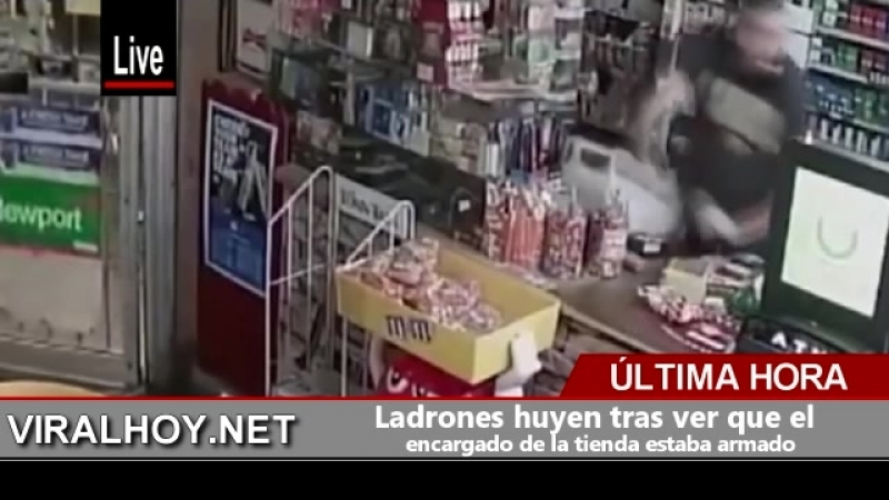 Ladrones huyen tras ver que el encargado de la tienda estaba armado