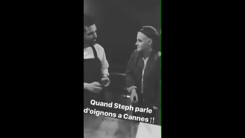 Chef Kristen Stewart speaking french