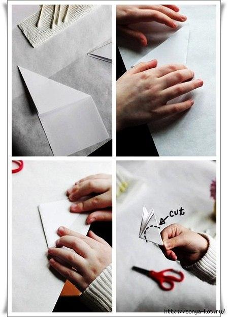 Венок из бумажных нарциссов