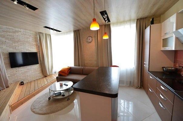 Дизайн интерьера 35 кв м