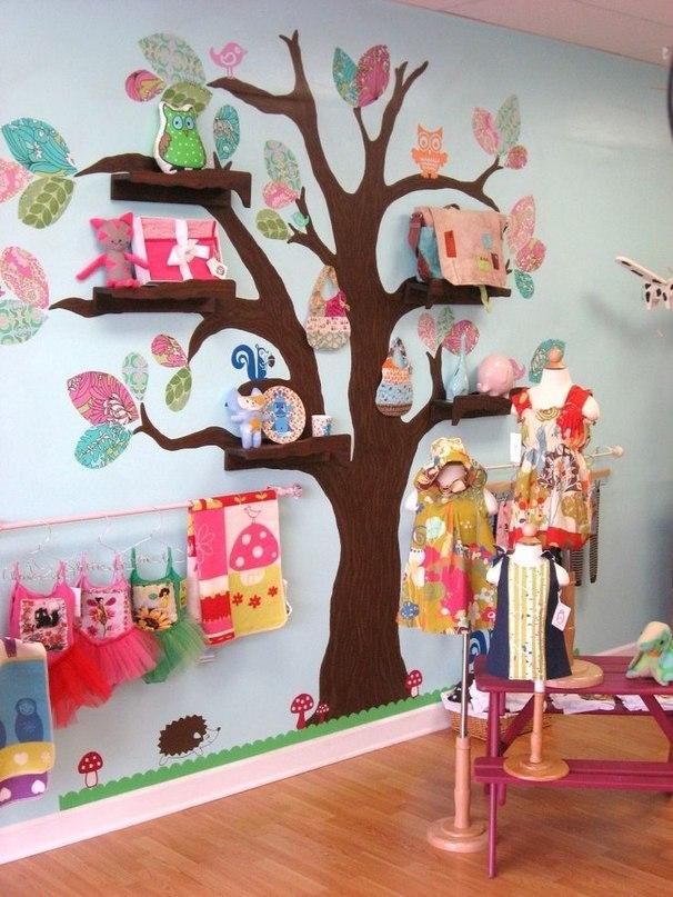 Идеи полочек для детской комнаты