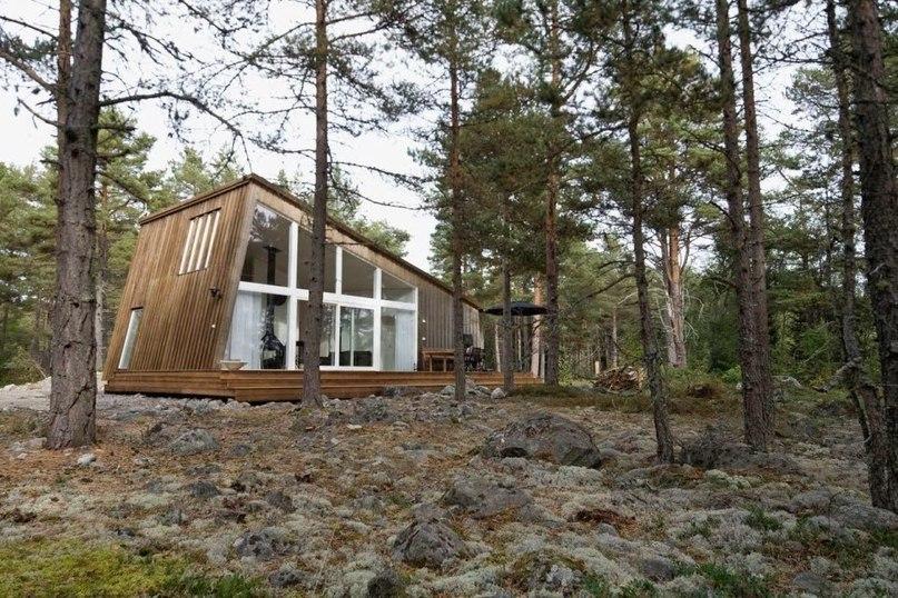 Курортный домик в Швеции после реконструкции