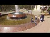 Сезон фонтанов открылся в Химках- взгляд с высоты
