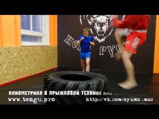 Плиометрика в прыжковой технике при ударах ногами. Акцент на взрыве при нанесении - поднимании ноги