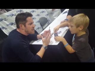 Sean with little fan