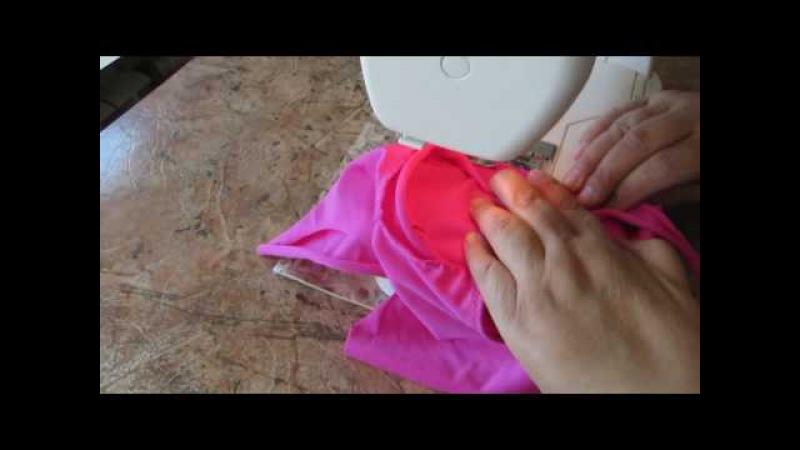 Обработка выреза горловины руликом