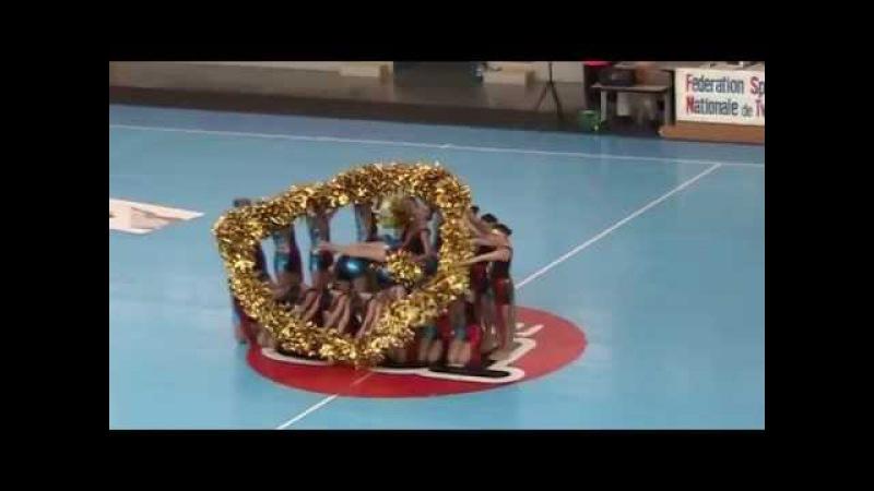 Twirling Club de Chagny, Grande équipe Pompon Junior - Grand National 2015 5ème place