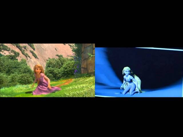 Disney's Tangled - Hair Troubles (Hair Simulation Failures/Bloopers/Outtakes)