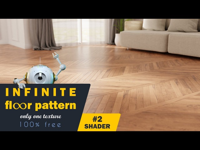 Infinite Wood Floor Pattern 2 - Shader
