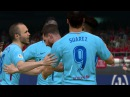 Girona vs Barcelona - Suarez Free Kick Goal Full Match 2017 - Gameplay PES (Messi 2 Goals)