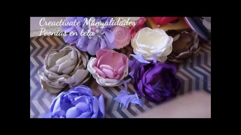 FLORES DE TELA/PEONIA/ FABRIC FLOWERS/MANUALIDADES/TUTORIALES/CREACTIVATE MANUALIDADES