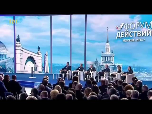 Путин дайте ему микрофон а то зарежет еще слушай