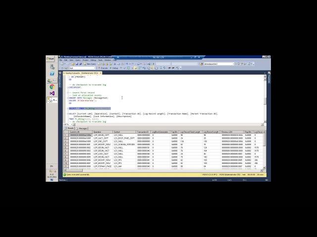 SQL Server Transaction log. Внутреннее устройство и решение проблем