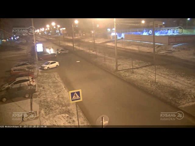 ДТП на ул. Москоская и ул. Гомельская (27.01.2017)